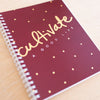 Cultivate - Burgundy Simple Notebook