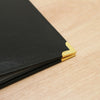 Black & Gold 12x12 Faux Leather Album