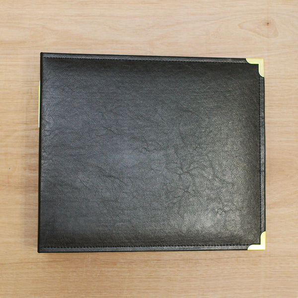 Black & Gold 12x12 Faux Leather Album - Pocket Scrapbooking & Memory Keeping - 1