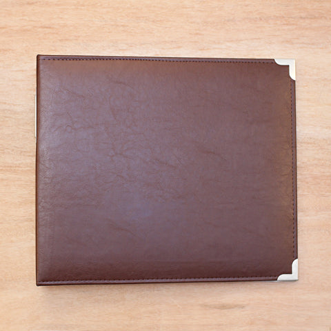 Cinnamon 12x12 Faux Leather Album - Pocket Scrapbooking & Memory Keeping - 1