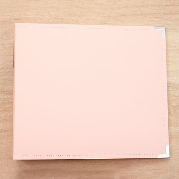 Baby Pink 12x12 Cloth Album - Pocket Scrapbooking & Memory Keeping - 1