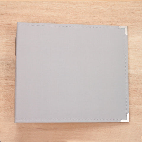 Grey 12x12 Cloth Album - Pocket Scrapbooking & Memory Keeping - 1