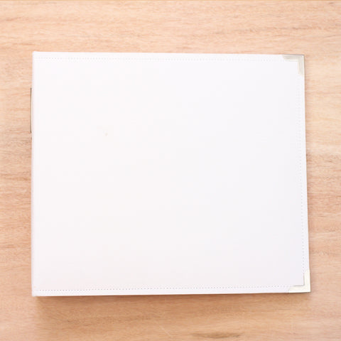 White 12x12 Cloth Album - Pocket Scrapbooking & Memory Keeping - 1