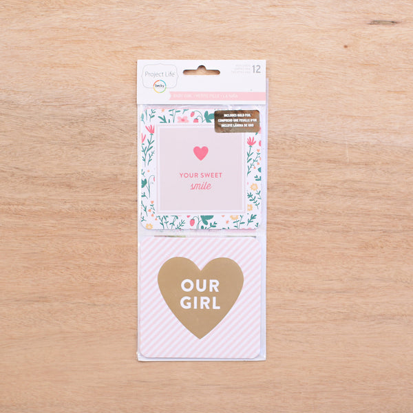 Baby Girl 4x4 Cards - Pocket Scrapbooking - 1