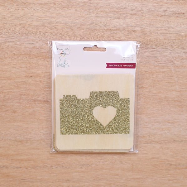 Wood 4x4 Cards - Pocket Scrapbooking - 1