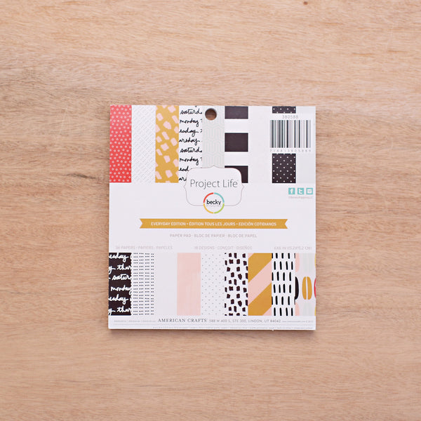 Everyday Edition 6x6 Paper Pad - Pocket Scrapbooking - 1