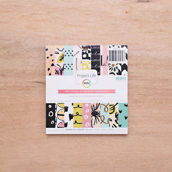 Sweet Edition 6x6 Paper Pad - Pocket Scrapbooking - 1