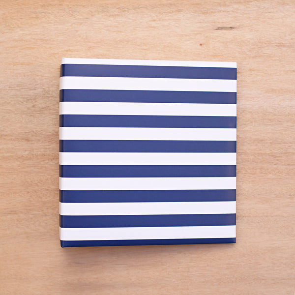 Navy Stripe 6x8 Album - Pocket Scrapbooking - 1