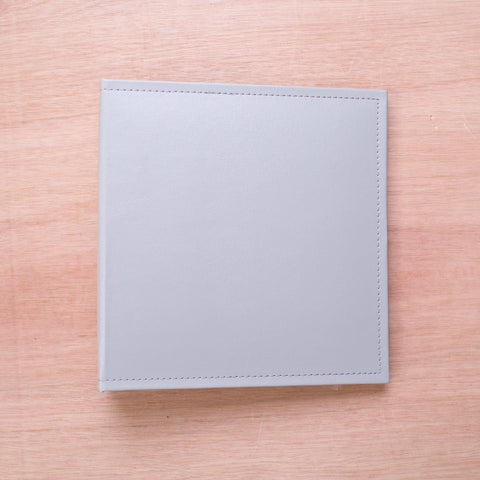 Grey 6x8 Faux Leather Album - Pocket Scrapbooking - 1