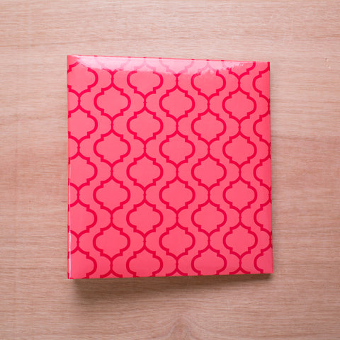 Pink Lattice 6x8 Album - Pocket Scrapbooking - 1