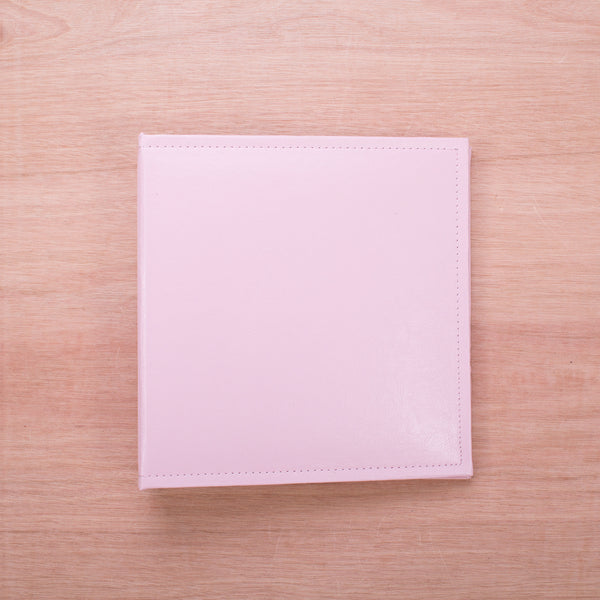 Pink 6x8 Faux Leather Album - Pocket Scrapbooking - 1