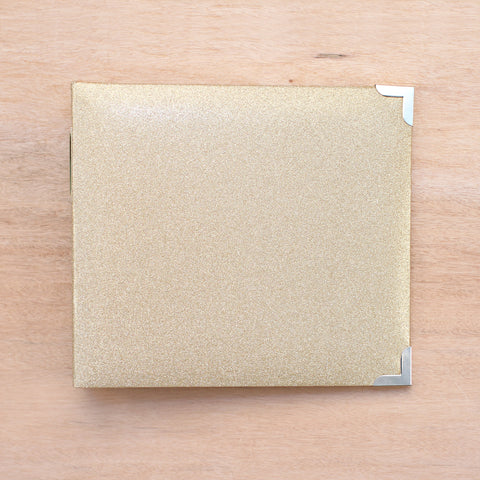 Gold Glitter 8x8 Album - Pocket Scrapbooking - 1