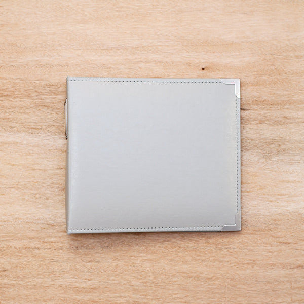 Grey 8x8 Faux Leather Album - Pocket Scrapbooking - 1