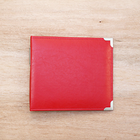 Cherry 8x8 Faux Leather Album - Pocket Scrapbooking - 1