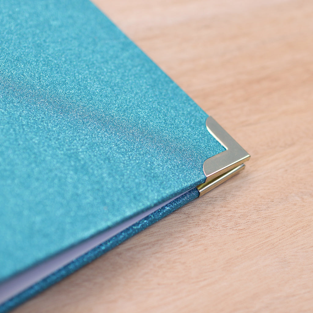 How to scrapbook with glitter -  Teal Glitter 8x8 Album