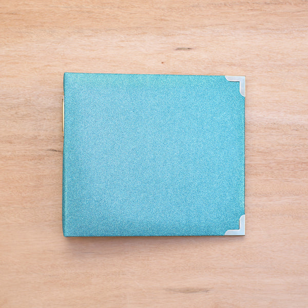 Teal Glitter 8x8 Album - Pocket Scrapbooking - 1