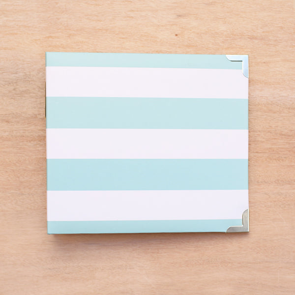 Teal Stripes 8x8 Album - Pocket Scrapbooking - 1