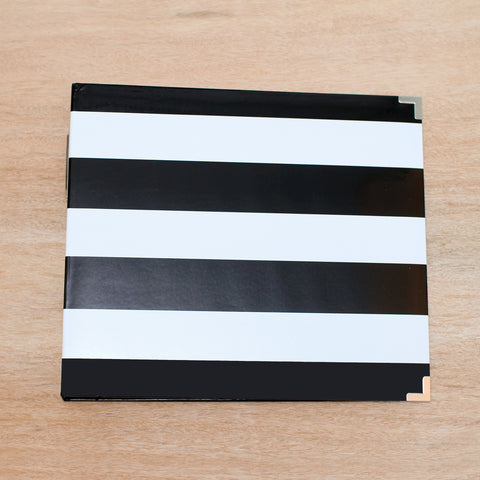 Black & White Stripe Designer Album - Pocket Scrapbooking & Memory Keeping - 1