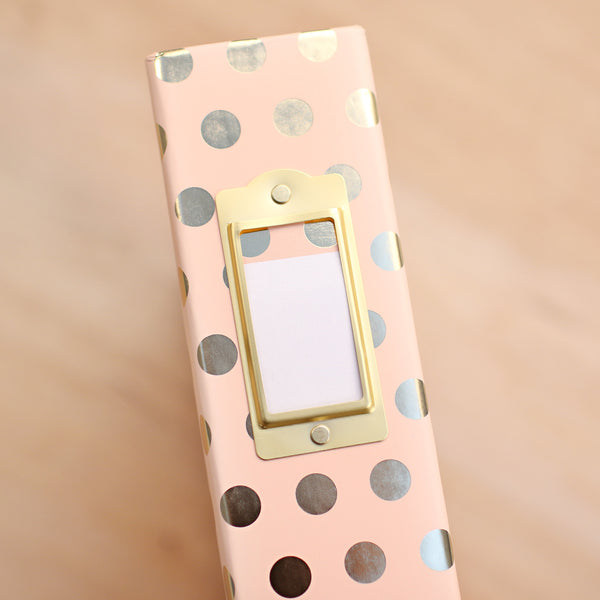 Blush Dot Designer Album - Pocket Scrapbooking & Memory Keeping - 1