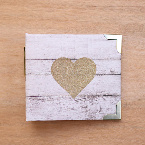 Glitter Heart 4x4 Album - Pocket Scrapbooking - 1