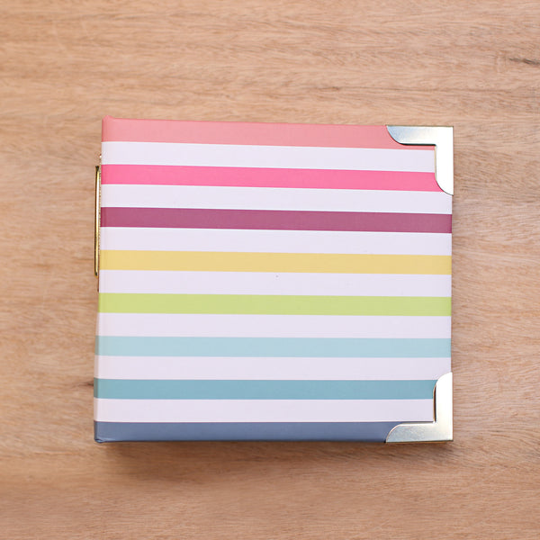 Stripes 4x4 Album - Pocket Scrapbooking - 1