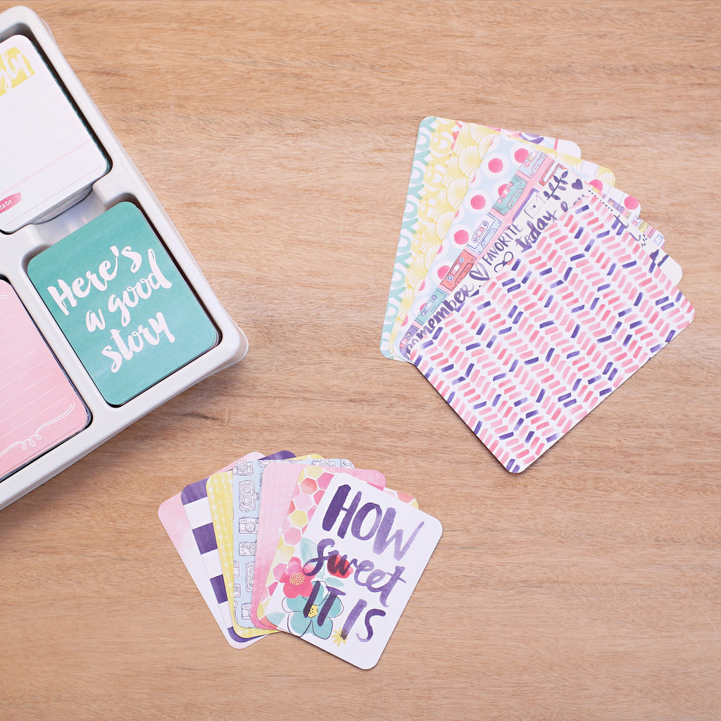 """25 CARDS 3/"""" X 4/"""" /'BETTER TOGETHER/' PROJECT LIFE CARDS BY BECKY HIGGINS"""