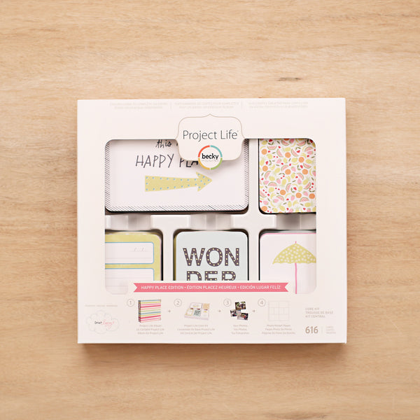 Happy Place Core Kit - Pocket Scrapbooking & Memory Keeping - 1