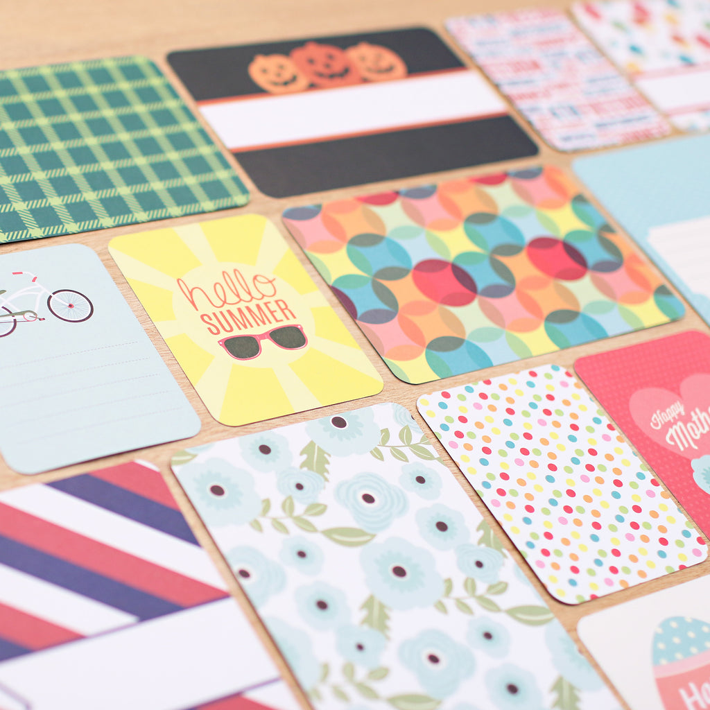 How to scrapbook greeting cards -  Seasons Core Kit