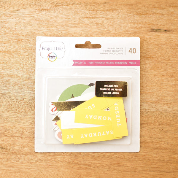 Project 52 - Fresh Die-Cut Shapes - Pocket Scrapbooking & Memory Keeping - 1