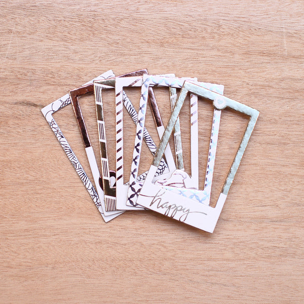 Golden Instax Chipboard Frames - Pocket Scrapbooking & Memory Keeping - 1