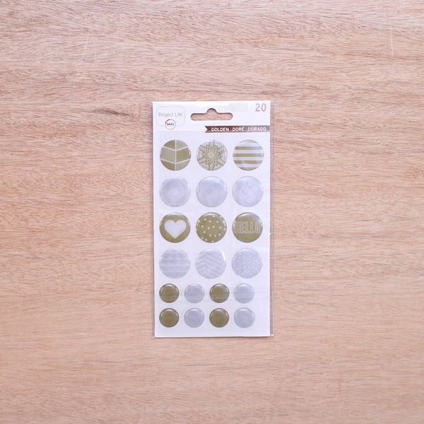 Golden Epoxy Stickers - Pocket Scrapbooking & Memory Keeping - 1