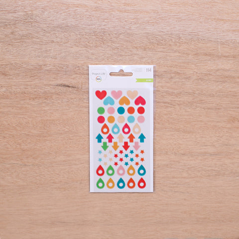 Kiwi Edition Glossy Stickers - Pocket Scrapbooking & Memory Keeping - 1