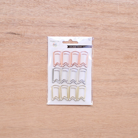 Golden Shaped Paper Clips - Pocket Scrapbooking & Memory Keeping