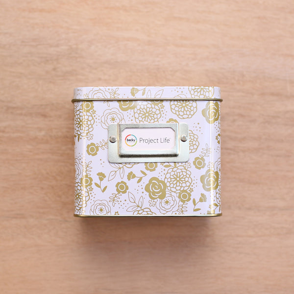 Floral Instax Tin Storage Box - Pocket Scrapbooking - 1