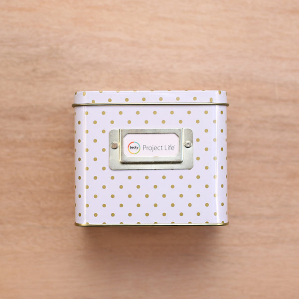 Polka Dot Instax Tin Storage Box - Pocket Scrapbooking - 1