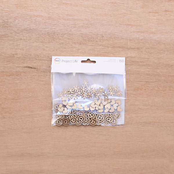 Wood Veneer Shapes - Pocket Scrapbooking & Memory Keeping - 1