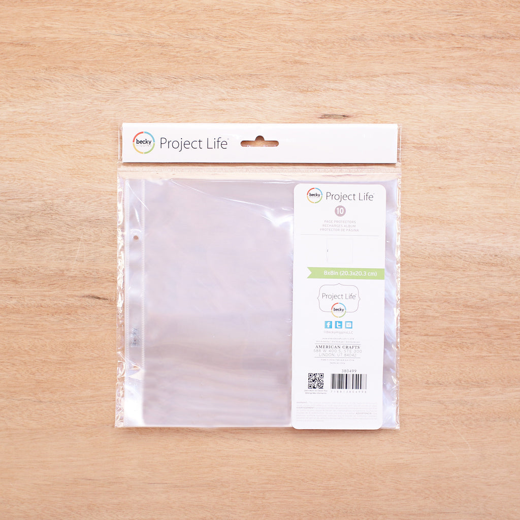 How to refill scrapbook pages - 8x8 Page Protectors