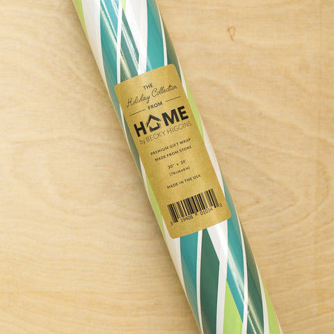 Diagonal Stripes - Green Stone Wrap - Pocket Scrapbooking & Memory Keeping - 1
