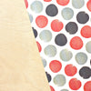 Watercolor Dots - Red, Black + Grey Stone Wrap