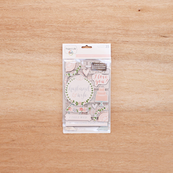 Southern Weddings Edition Chipboard Stickers - Becky Higgins - 1
