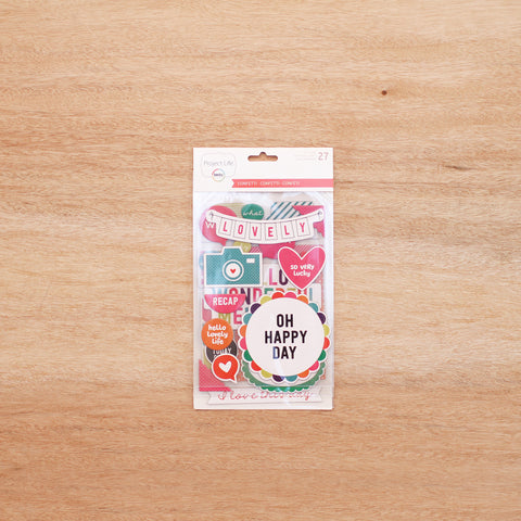 Confetti Edition Chipboard Stickers - Pocket Scrapbooking - 1
