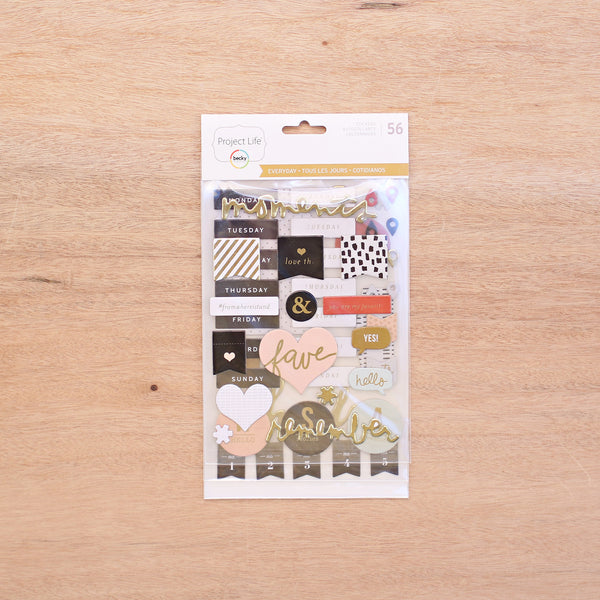 Everyday Edition Chipboard Stickers - Pocket Scrapbooking - 1