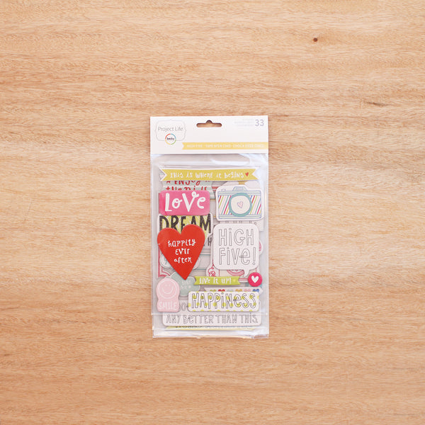 High Five Edition Chipboard Stickers - Pocket Scrapbooking - 1