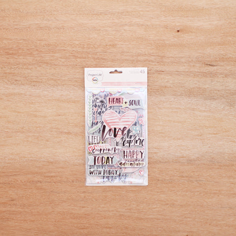 Inspire Edition Chipboard Stickers - Pocket Scrapbooking - 1