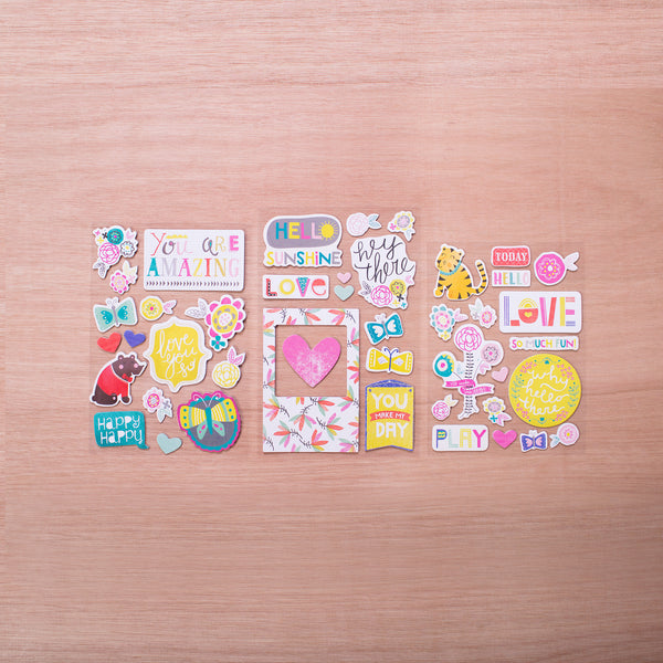 Playful Edition Chipboard Stickers - Pocket Scrapbooking - 1