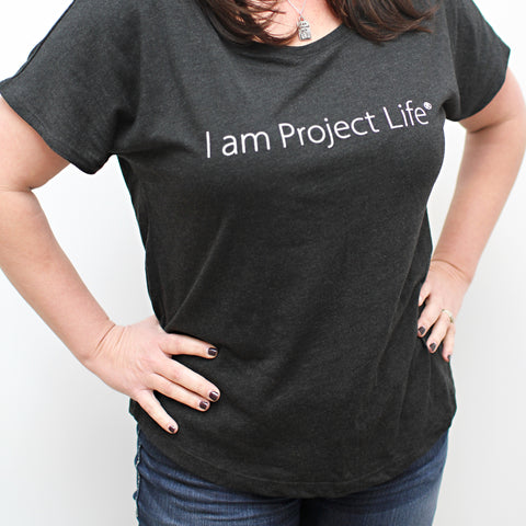 I am Project Life T-Shirt: Black - Pocket Scrapbooking - 1