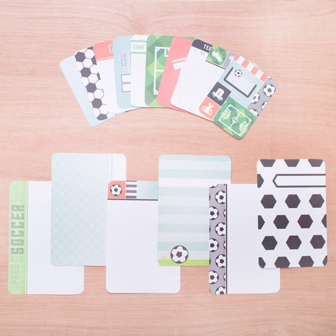 Soccer Themed Cards - Pocket Scrapbooking - 1