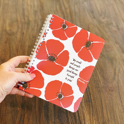 By Small and Simple Things Simple Notebook
