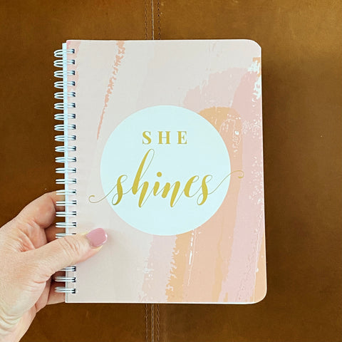 She Shines Simple Notebook