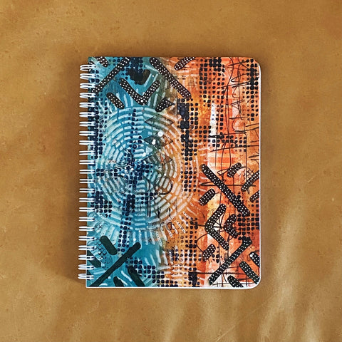 Turquoise Sunset (by Rachel Juanita Bellamy) Simple Notebook